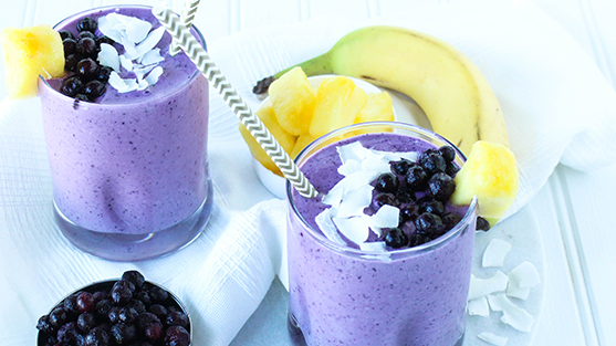 Tropical Wild Blueberry Smoothie Picture