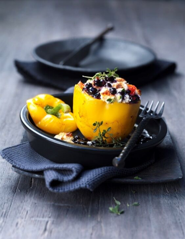 Stuffed Mediterranean Peppers with Wild Blueberries Picture
