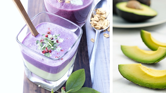 Avocado Wild Blueberry Smoothie Picture