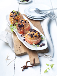 Bacon-Wrapped Onions with Wild Blueberry and Cheese Filling Picture