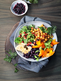 Buddha Bowl with Blueberries & Citrus Cider Maple Dressing Picture