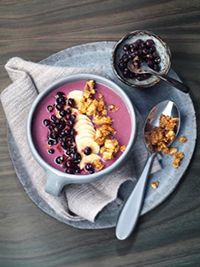 Wild Blueberry Smoothie Bowl with Walnut Crunch Picture