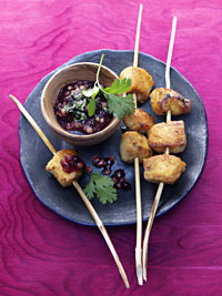 Tandoori Chicken Skewers with Wild Blueberry Fig Sauce Picture