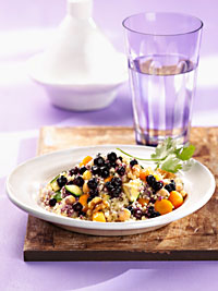 Vegetable Couscous with Wild Blueberries Picture