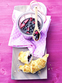 Croissants with Wild Blueberry Apple Marmalade Picture