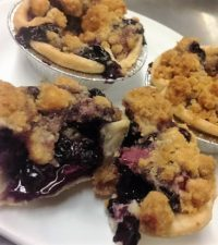 Wild Blueberry and Cherry Sour Cream Crumble Tart Picture