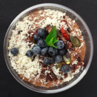 Wild Blueberry and Chocolate Chia Pudding Picture