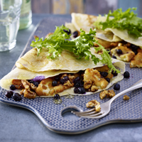 Crêpes with Baked Camembert and Wild Blueberries Picture