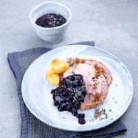 Roasted Chicken with Wild Blueberry Onion Sauce Picture
