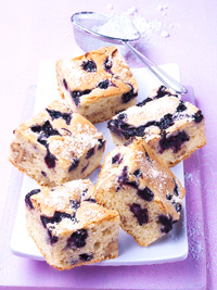 Wild Blueberry & Walnut Blondies Picture