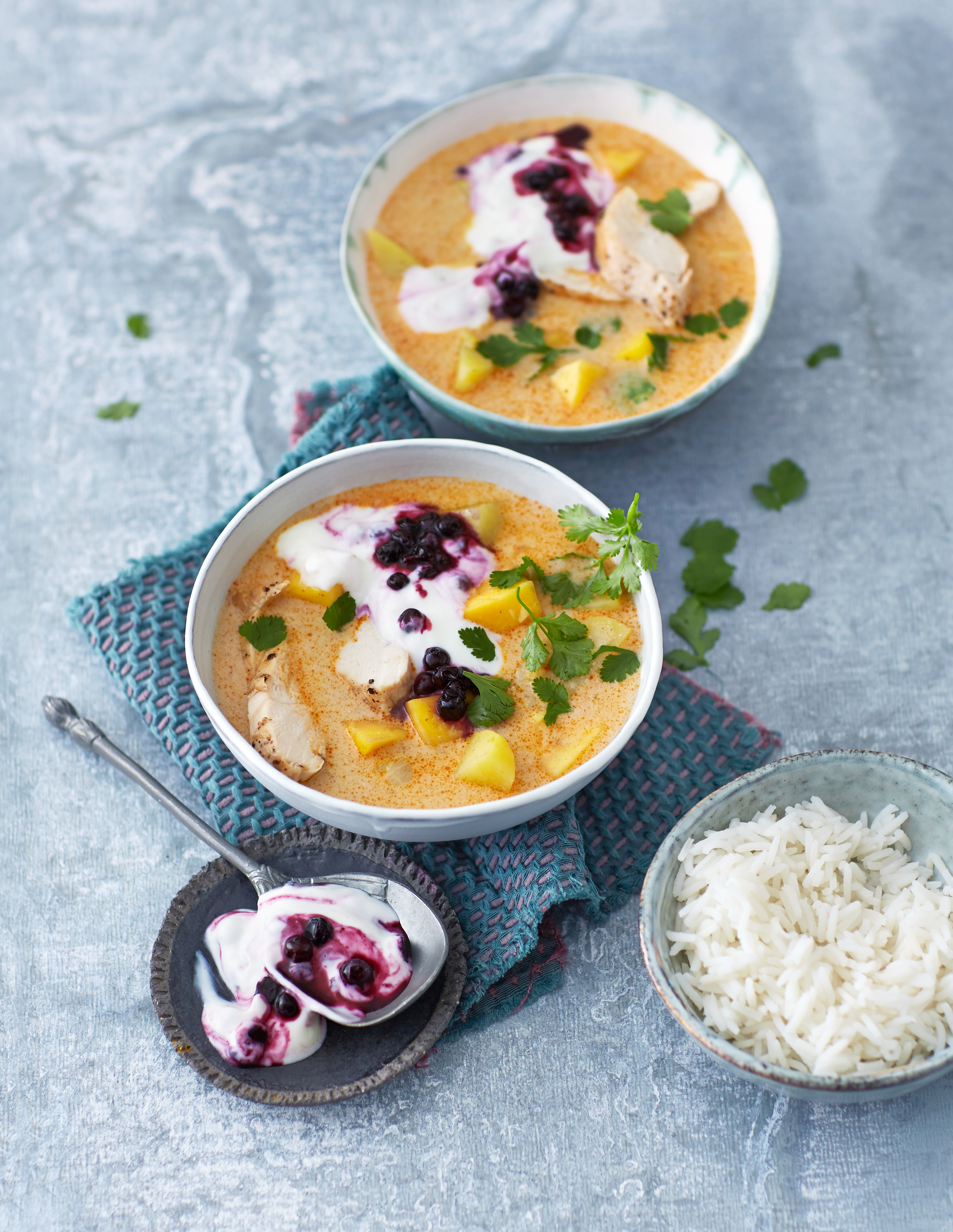 Chicken Mango Curry with Wild Blueberries Picture