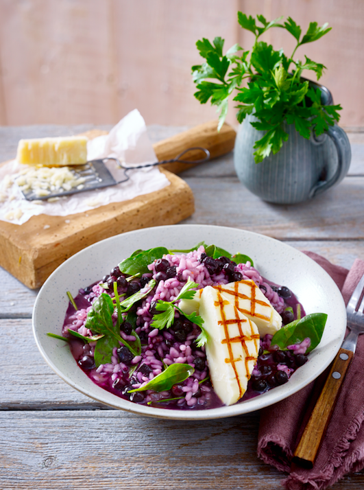 Wild Blueberry Risotto Picture