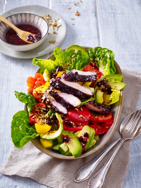 Maple Glazed Chicken and Wild Blueberry Salad Picture