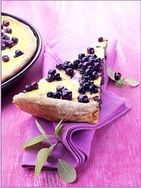 Wild Blueberry Cheescake Tart with Nut Crust Picture
